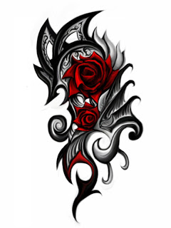 tribal rose tattoos5